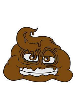Grinsen Scheiße Kacke Haufen Kot Geruch Ekelhaft Komischen Cartoon
