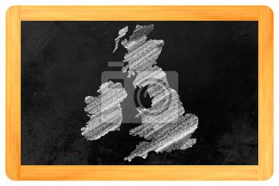 Großbritannien gezeichnet auf Eine tafel