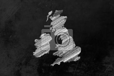 Großbritannien gezeichnet Markt auf Eine tafel
