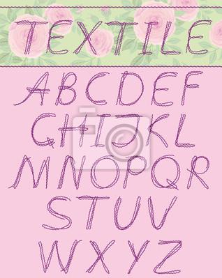 Großbuchstaben, textil