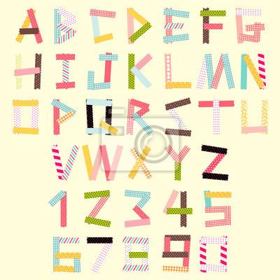 Großbuchstaben und Zahl set