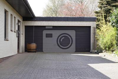 Super Große doppelgarage fototapete • fototapeten Carport, Einbaum EC56