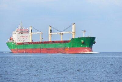 Fototapete Große Frachtschiff (Bulk-Carrier) Segeln in einem hellen sonnigen Tag. R