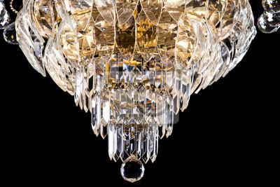 Kronleuchter Echt Kristall ~ Große kristall kronleuchter close up im barocken stil auf