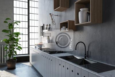 Grosse Kuchenspule Und Kabinettszene Fototapete Fototapeten Kitchen