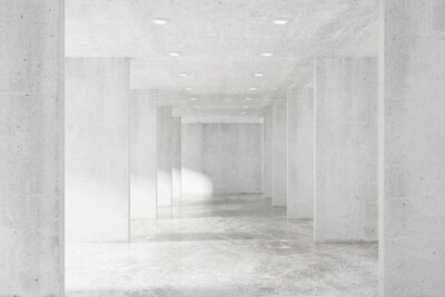 Fototapete Große leere Loft