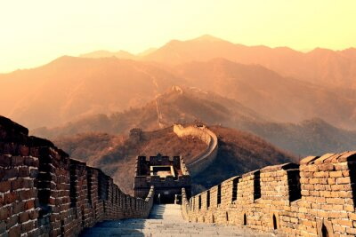 Fototapete Große Mauer Morgen