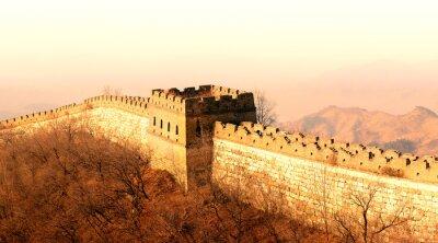 Fototapete Große Mauer Sonnenuntergang