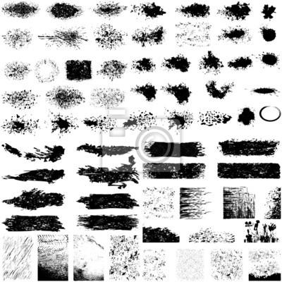 Fototapete Große Reihe von Grunge Texturen
