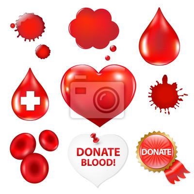 Große Sammlung mit Blut-und Herz-Tropfen