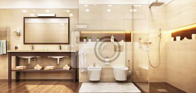 Großes badezimmer 2 fototapete • fototapeten Glastür, privies ...