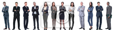 Fototapete group of successful business people isolated on white