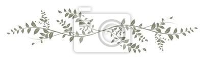 Fototapete grün dekoratives Element auf weißem Hintergrund - Dekoration