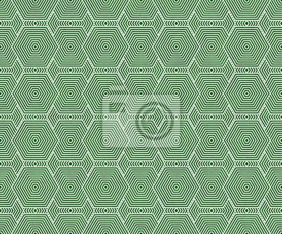Grun Und Weiss Hexagon Fliesen Muster Wiederholen Hintergrund