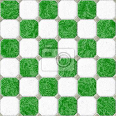 Grun Weiss Boden Marmor Quadratischen Fliesen Nahtlose Muster