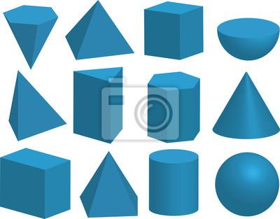 grundlegende geometrische formen 3d geometrische k rper pyramide fototapete fototapeten. Black Bedroom Furniture Sets. Home Design Ideas