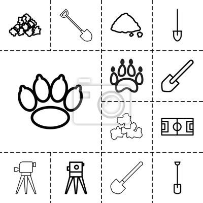 Grundsymbole. satz von 13 editierbaren grundlinieikonen fototapete ...