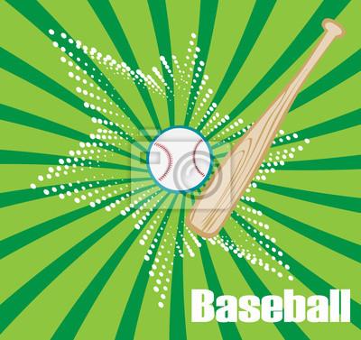 Grüne Baseball-Banner mit Stern