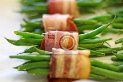 Grüne Bohnen Im Speckmantel Fototapete Fototapeten Vorbereitung