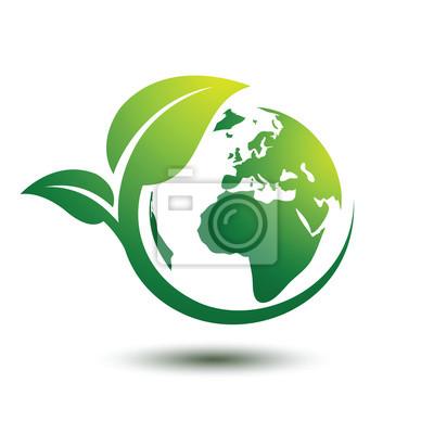 Grüne erde fototapete • fototapeten Recycling, Planeten, global ...