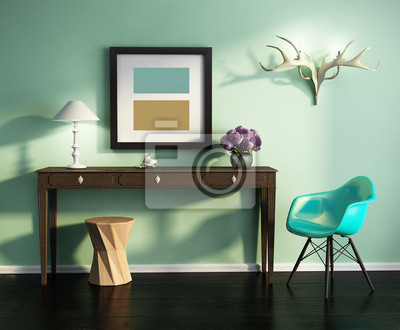 https://img.myloview.de/fototapeten/grune-frische-vintage-interieur-mit-stuhl-tisch-stuhl-rahmen-400-1676905.jpg