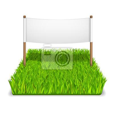 grüne Gras Zeichen