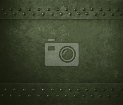 Fototapete Grüne militärische Metall Rüstung Hintergrund