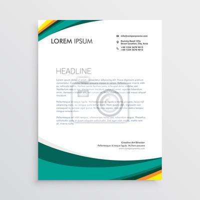 Grüne Visuelle Identität Briefkopf Design Vorlage Fototapete