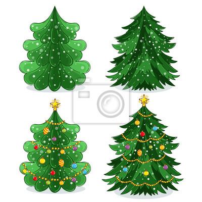 Weihnachtsbaum Girlande.Fototapete Grüne Weihnachtsbaum Mit Leichten Dekoration Girlande Und Spielzeug