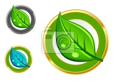 Grünes Blatt Symbole