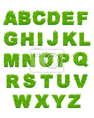 Grünes Gras Buchstaben des Alphabets