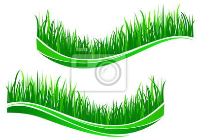 Grünes Gras Wellen