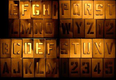 Grunge Alphabet, so dass Sie Ihre Botschaft kann komponieren