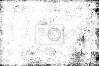 Fototapete Grunge background black and white. Texture of chips, cracks, scratches, scuffs, dust, dirt. Dark monochrome surface. Old vintage vector pattern