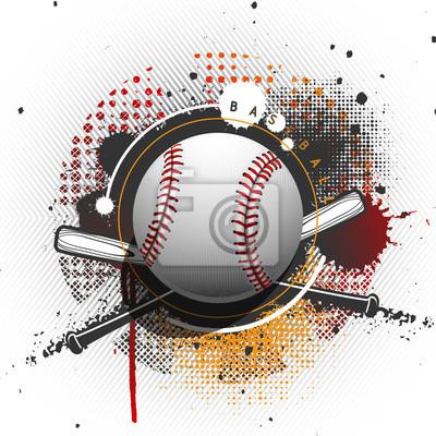 Grunge baseball background