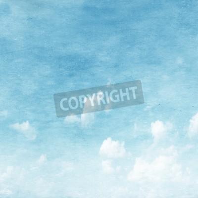 Fototapete Grunge Bild des blauen Himmels.