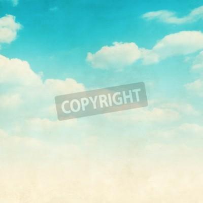 Fototapete Grunge Bild des blauen Himmels mit Wolken.
