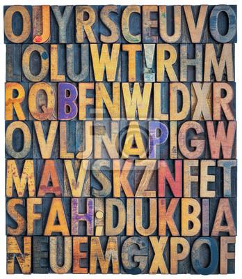 Grunge Buch Alphabet Hintergrund