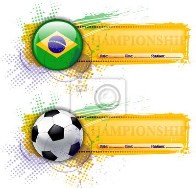 Grunge Fußball Banner