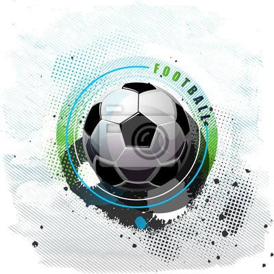 Grunge Fußball Hintergrund