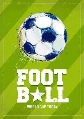 Fototapete Grunge Fußball-Plakat