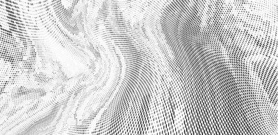 Fototapete Grunge halftone dots pattern texture background