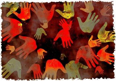 grunge Hände