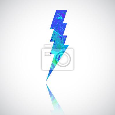 Grunge in farbe donner lighting. vorsicht, gefahr, spannung symbol ...
