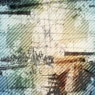 Fototapete Grunge-Stil städtischen Hintergrund