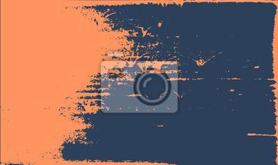 Fototapete Grunge Textur Hintergrund. Abstrakt orange dunkelblau alten rauen Retro-Design.