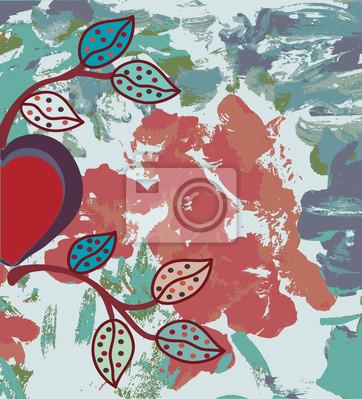 Grunge valentine Hintergrund mit Herz