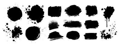 Fototapete Grunge vector hand drawn elements