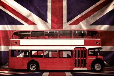 Grungy Foto von Red Bus