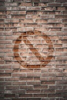 Fototapete Grungy städtischen Mauer mit verbotenen Zeichen